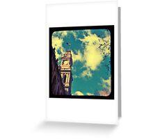 Clock Tower Greeting Card