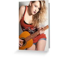 Emily Scarlett and Guitar  Greeting Card
