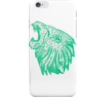 Green Lion  iPhone Case/Skin