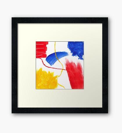 Abstract Colourful Acrylic Framed Print