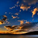 Sunset over Lake Burley Griffin by Bernadette Maurer