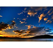 Sunset over Lake Burley Griffin Photographic Print