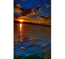 Sunset over Lake Photographic Print