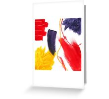 Abstract Striking Acrylic Painting Greeting Card