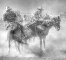 Bronco riding by Bernadette Maurer