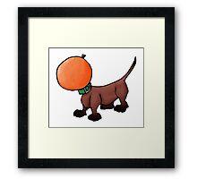 Orange dachshund Framed Print