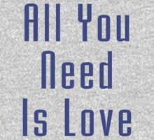 The Beatles - All You Need Is Love - Song Lyric T-Shirt Kids Clothes