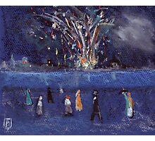 The firework display Photographic Print