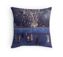 The firework display Throw Pillow