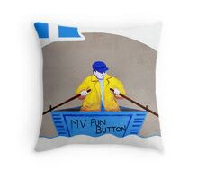 The Little Man in the Boat Throw Pillow