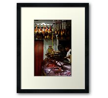 Meat Shop Framed Print