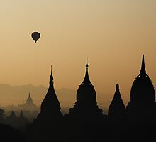 Balloons over Bagan.  by DaveBassett