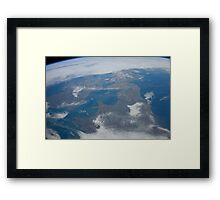 The United Kingdom From Space - UK / Photo from the International Space Station Framed Print