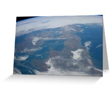 The United Kingdom From Space - UK / Photo from the International Space Station Greeting Card