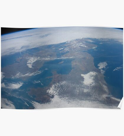 The United Kingdom From Space - UK / Photo from the International Space Station Poster