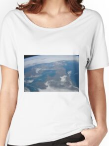 The United Kingdom From Space - UK / Photo from the International Space Station Women's Relaxed Fit T-Shirt