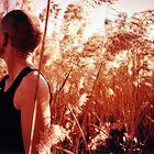 Georgina in the grass by Paula Birch