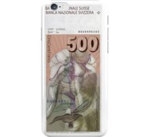 500 Old Swiss Francs Note - Back iPhone Case/Skin