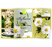 Camelia Tea Set featured in Collective Collage  Poster
