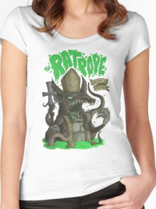 Sewer Lords: The RatPope Women's Fitted Scoop T-Shirt