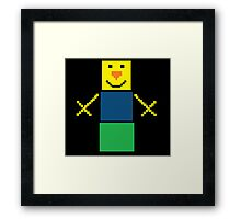 Pixel the snowman noob edition Framed Print