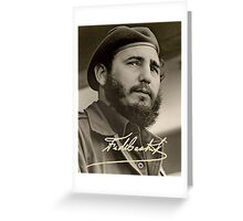Young Fidel Castro Greeting Card