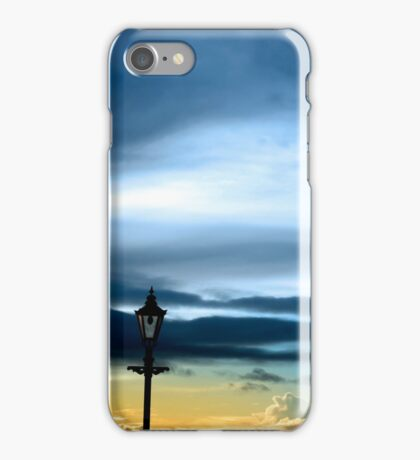 row of vintage lamps and lighthouse iPhone Case/Skin