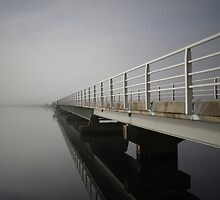 Bridge over Meadowbank Lake, Tasmania by Katinka Smith