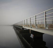 Bridge over Meadowbank Lake, Tasmania by Katinka Smith