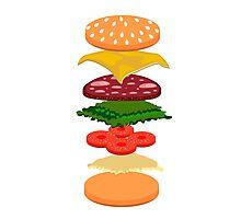 Burger anatomy Photographic Print