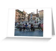 Neptune's Fountain in the Plaza Navona Greeting Card