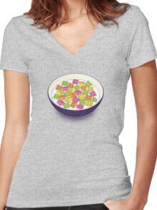 A Balanced Brickfast Women's Fitted V-Neck T-Shirt