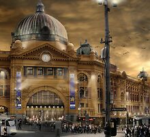 Flinders St Station  by Cliff Vestergaard