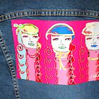 art on denim jacket by flowerstone