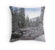 The Valley in the Winter Throw Pillow