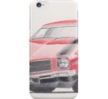 Holden HQ SS in Red by Glens Graphix iPhone Case/Skin
