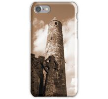 sepia rock of cashel iPhone Case/Skin