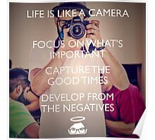 Life is like a Camera! Poster