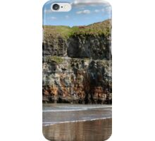 seat at the top of the cliffs in Ballybunion iPhone Case/Skin