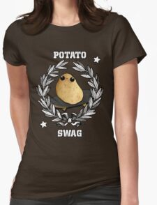 Swag Skater Potato Womens Fitted T-Shirt
