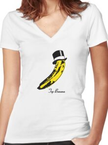 Top Banana Women's Fitted V-Neck T-Shirt