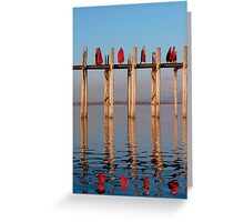 MONKS - MANDALAY Greeting Card