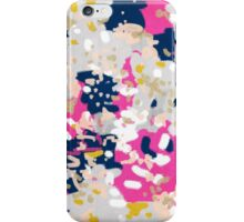 Michel - Abstract, girly, trendy art with pink, navy, blush, mustard for cell phones, dorm decor etc iPhone Case/Skin