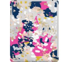 Michel - Abstract, girly, trendy art with pink, navy, blush, mustard for cell phones, dorm decor etc iPad Case/Skin