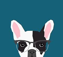 Hadley - French Bulldog wearing hipster glasses perfect for dog lovers and owners, dog people by PetFriendly