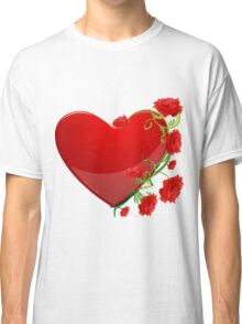Heart with flowers Classic T-Shirt