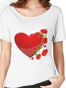 Heart with flowers Women's Relaxed Fit T-Shirt