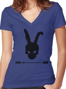 Frank the rabbit Women's Fitted V-Neck T-Shirt
