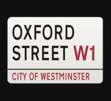 Oxford Street London Street Sign by stuwdamdorp