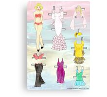 Paper Doll - Amy Canvas Print